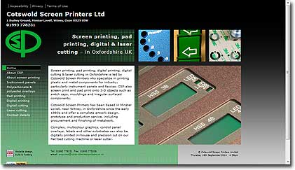 Cotswold Screen Printers' homepage